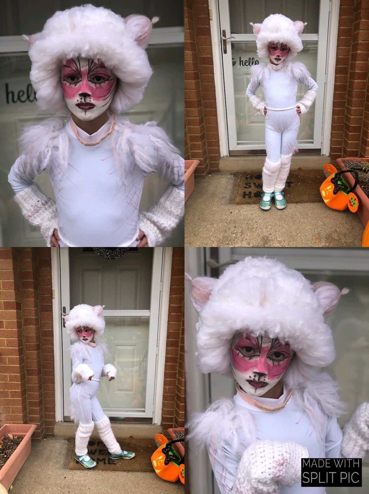 Victoria The White Kitten From Cats The Musical Halloween Costume Halloween Costumes White Kittens Costumes