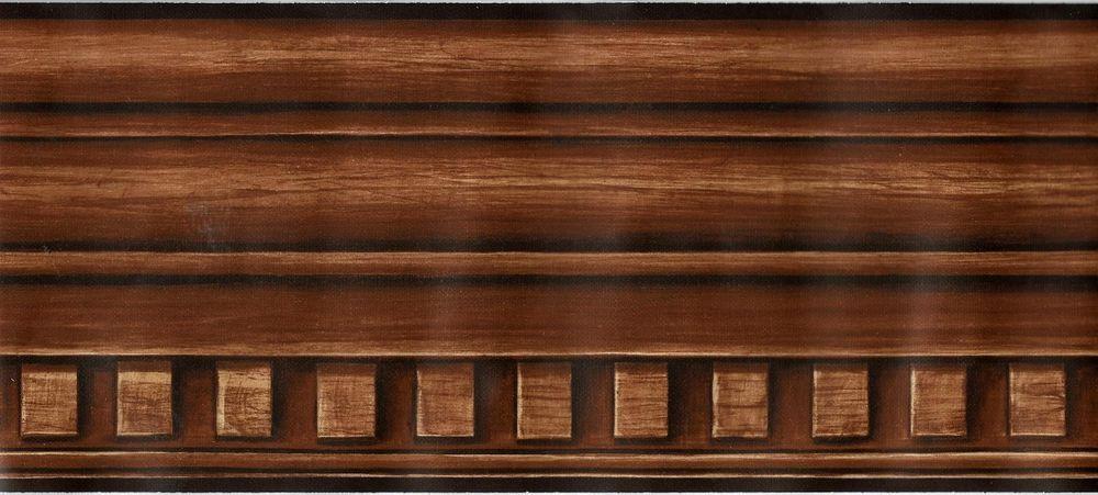 Architectural Dentil Wood Moulding Look Wallpaper Border Wood Molding Wallpaper Border Wood