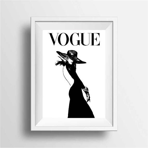 Black /& white Fashion art photography vogue Model home decor wall print beauty