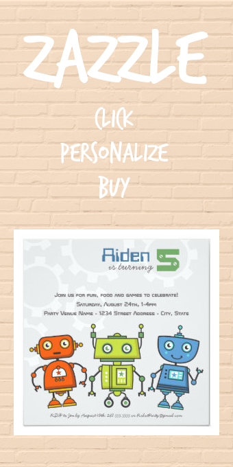 Modern Colorful Robots Kids Robot Birthday Party Invitation Zazzle Com In 2020 Robot Birthday Party Birthday Party Invitations Boy Birthday Party Invitations