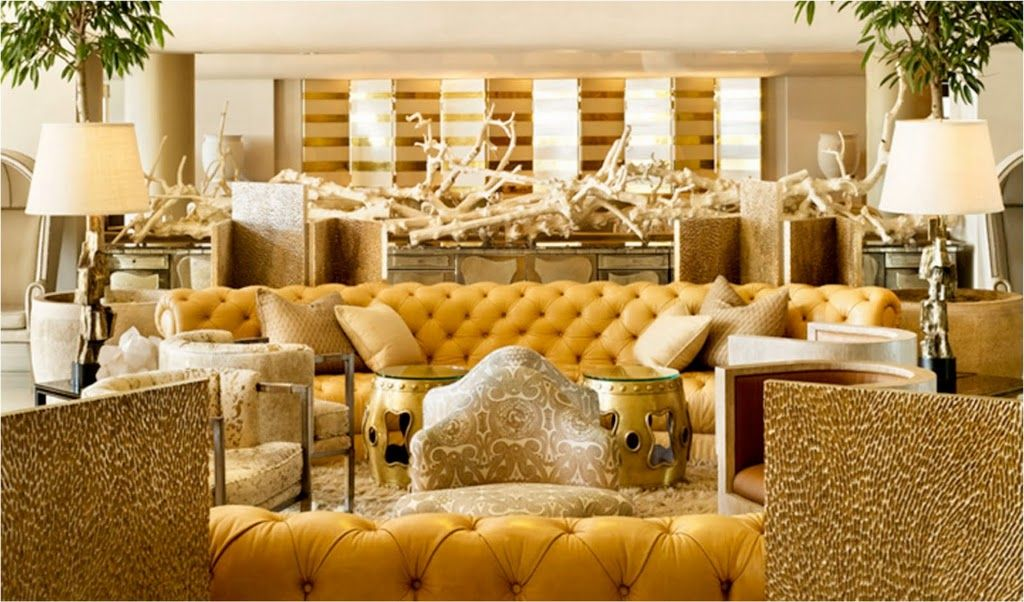 melt into this goldrush interior by kelly wearstler