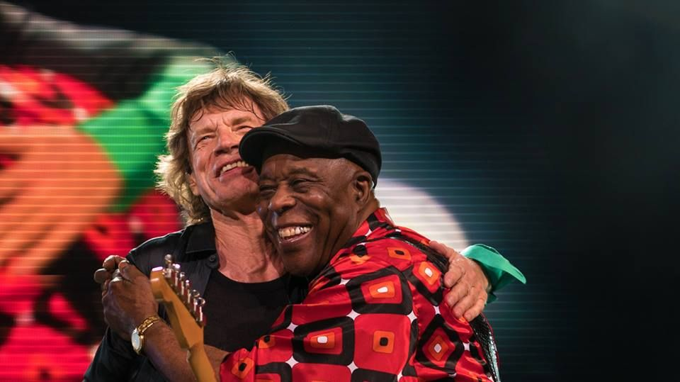 Mick Jagger and Buddy Guy On stage Milwaukee June 23, 2015