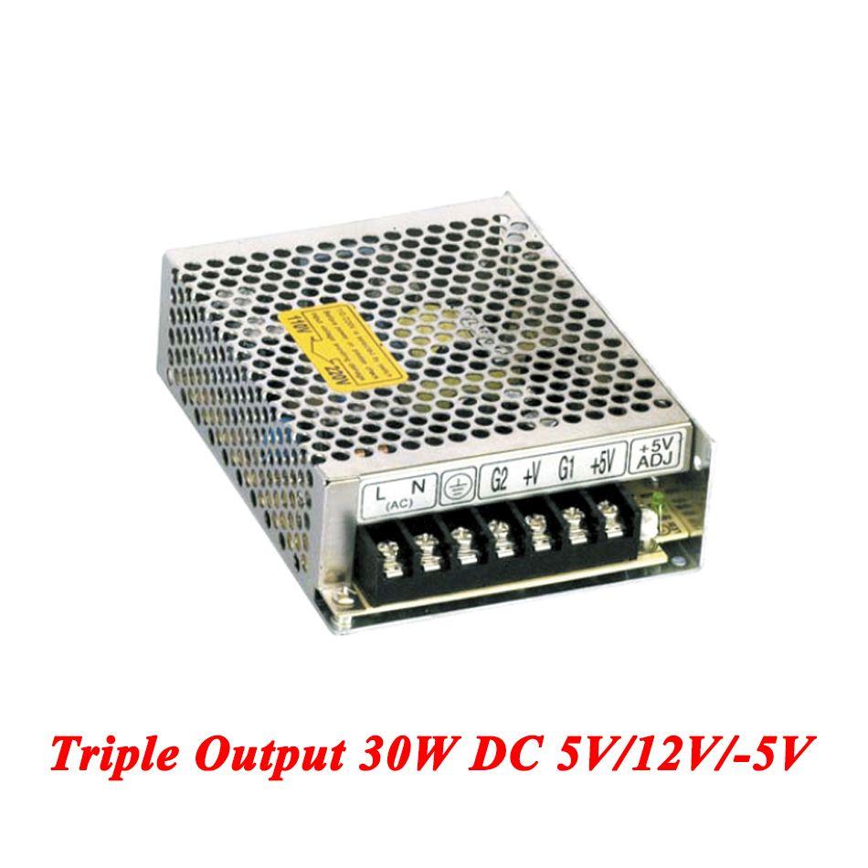 T-30A Triple Output Switching Power Supply 30W 5V 12V -5V,Ac-Dc
