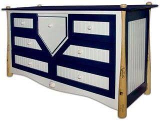 Elegant Childrenu0027s Baseball Dresser Sports Themed Furniture