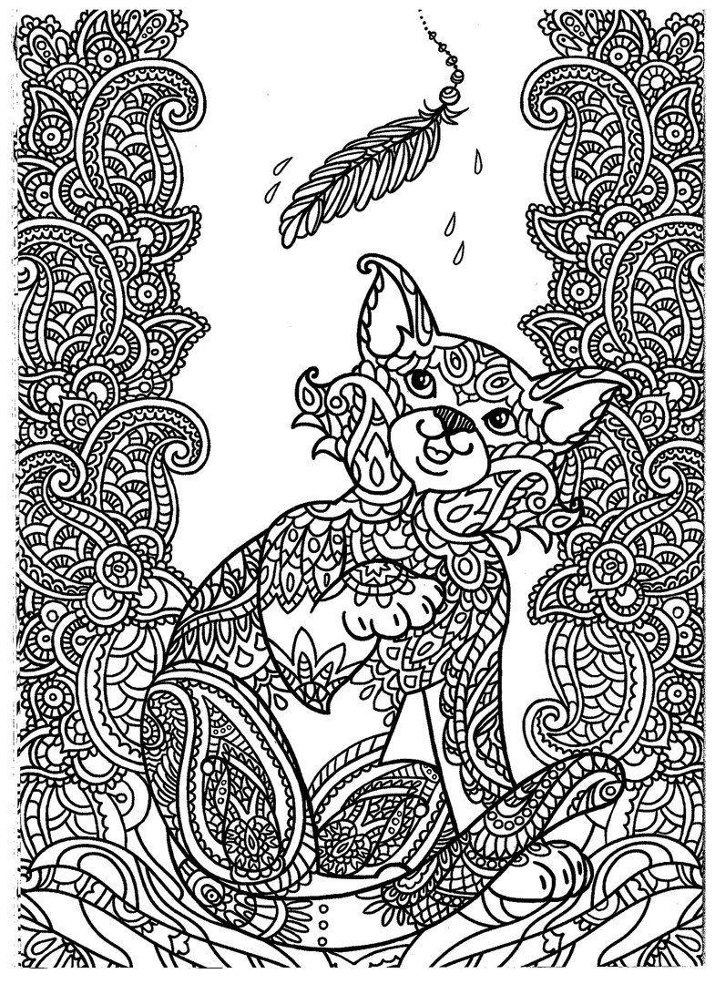 Raskraski Zentangl I Dudling Eto Veselo Vk Kitten Coloring Book Kittens Coloring Cat Coloring Page