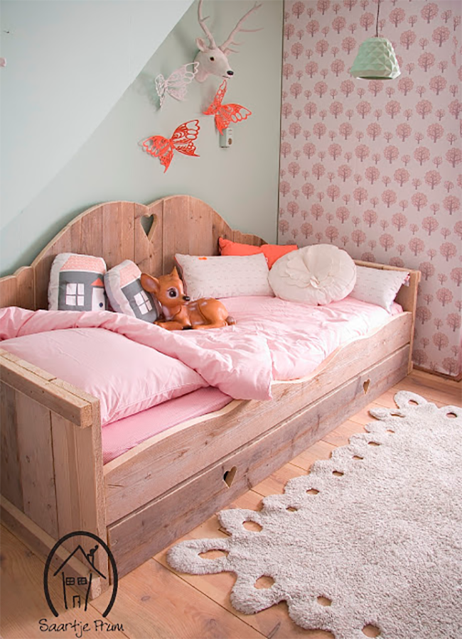 Dreamy Daybeds That Do Double Duty as Seating  --  Saartje Prum Rustic Daybed