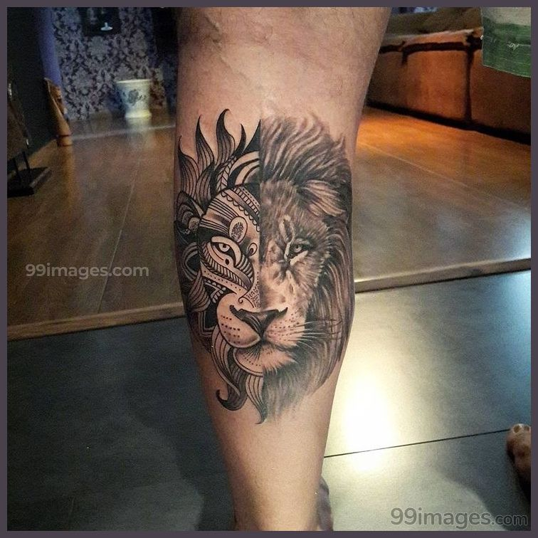 Creative Lion Tattoos Hd Images 11499 Liontattoos Tattoos Leg Tattoos Lion Tattoo Mandala Lion Tattoo