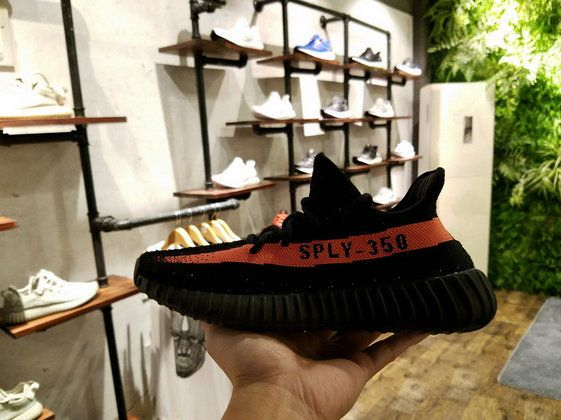 timeless design ca2e3 82974 2017 New Adidas Yeezy Boost 350 V2 BY9612 Core Black Red Limited