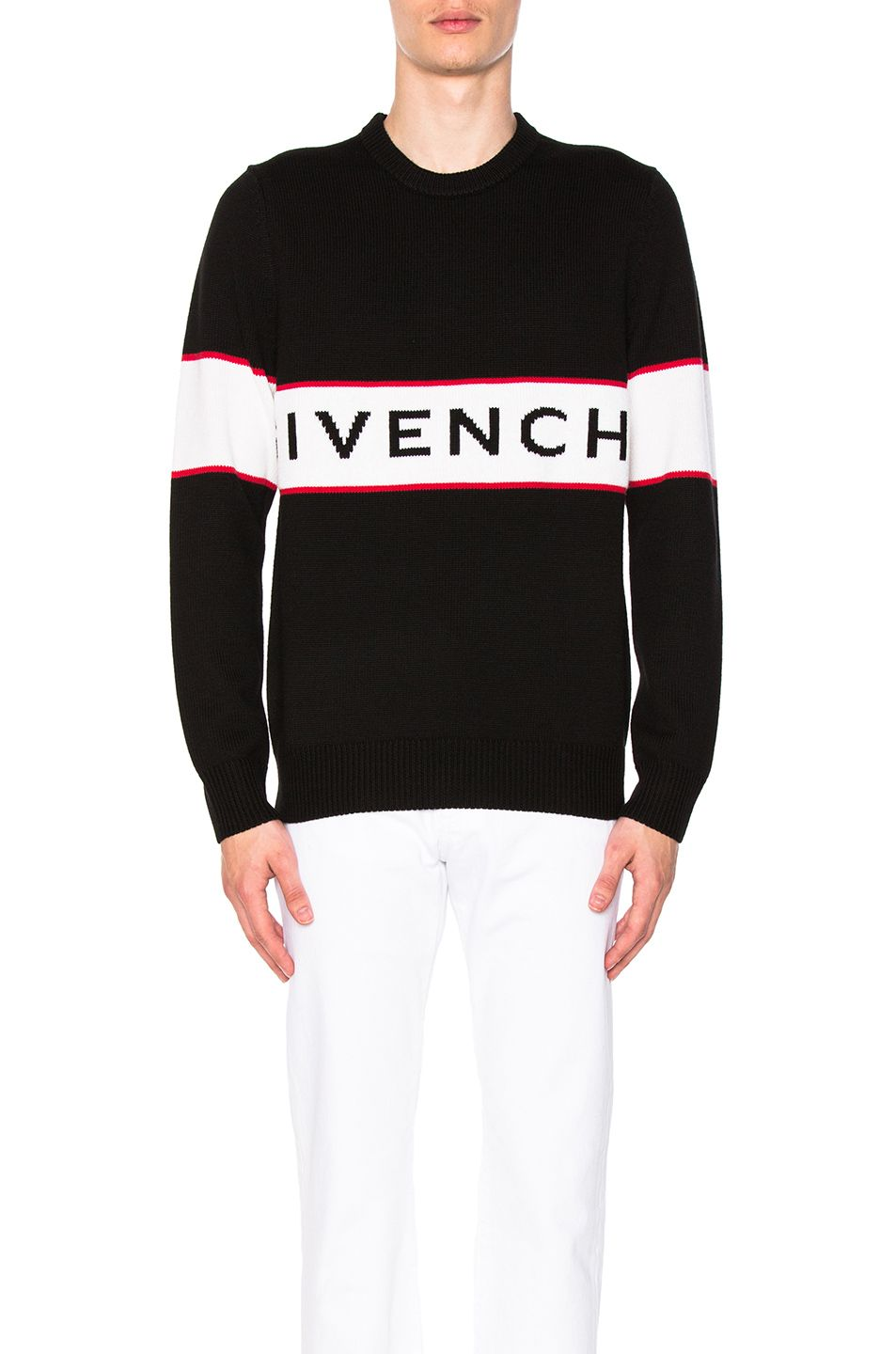 GIVENCHY GIVENCHY LOGO KNIT SWEATER IN BLACK.  givenchy  cloth ... a5ed80bc0523