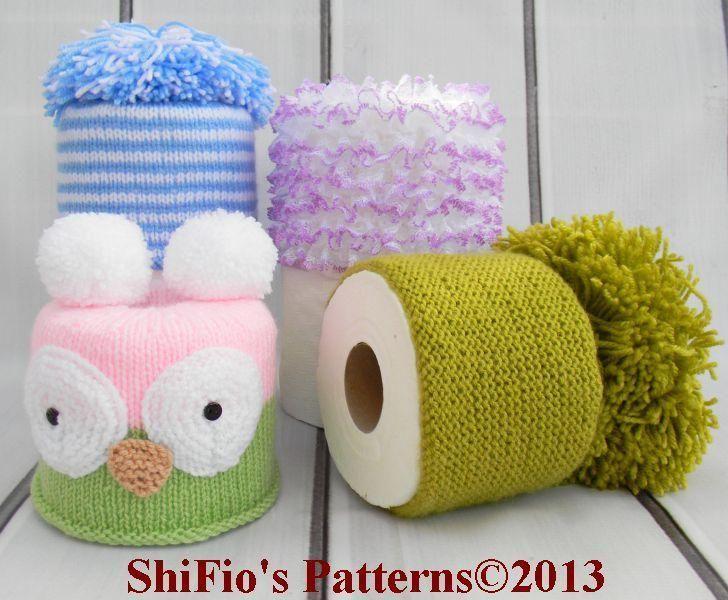 Toilet Roll Covers Knitting Pattern #256 | prjónað..heklað..saumað ...