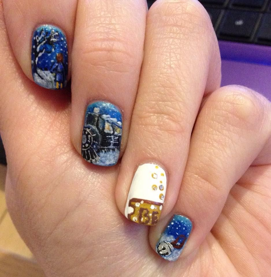 Polar Express Nail art | stylin | Pinterest | Express nails, Winter ...
