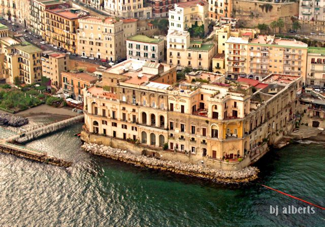 Posillipo, Palazzo Donn\'Anna. Jutting out into the Bay at the ...