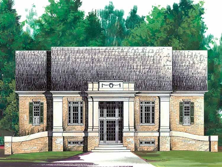 Colonial Style House Plan 3 Beds 3 5 Baths 2994 Sq Ft Plan 119 265 Colonial House Plans House Plans Colonial Style Homes