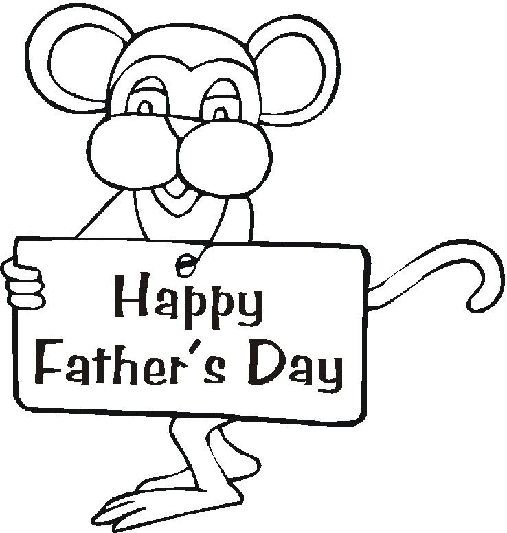 Fathers Day Cartoon Coloring Page ❤️Chr Walpapers - new free coloring pages for father's day