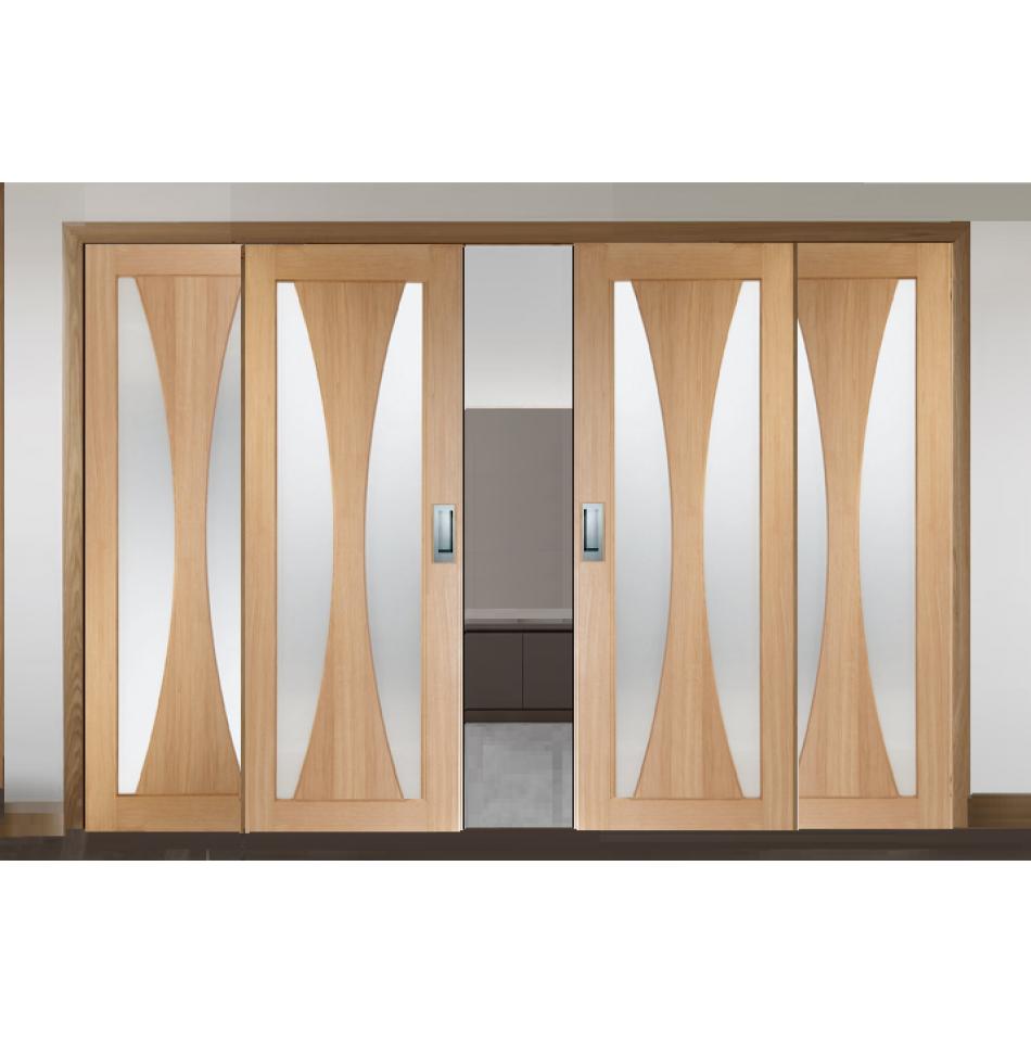Sliding french doors with verona glazed doors