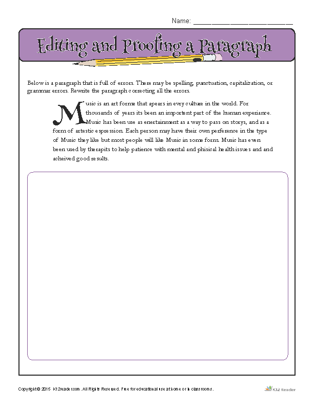 38+ Proofreading worksheets 7th grade Top