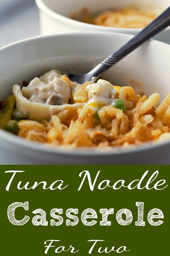 Photo of Best Tuna Noodle Casserole Recipe for Two