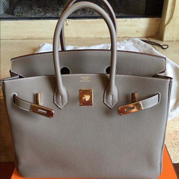 7fa2bff531 BRAND NEW IN BOX 100% authentic--Hermes Birkin 35 Etoupe togo with gold  hardware. It is brand new in the box (never worn) and it was purchased a  few weeks ...