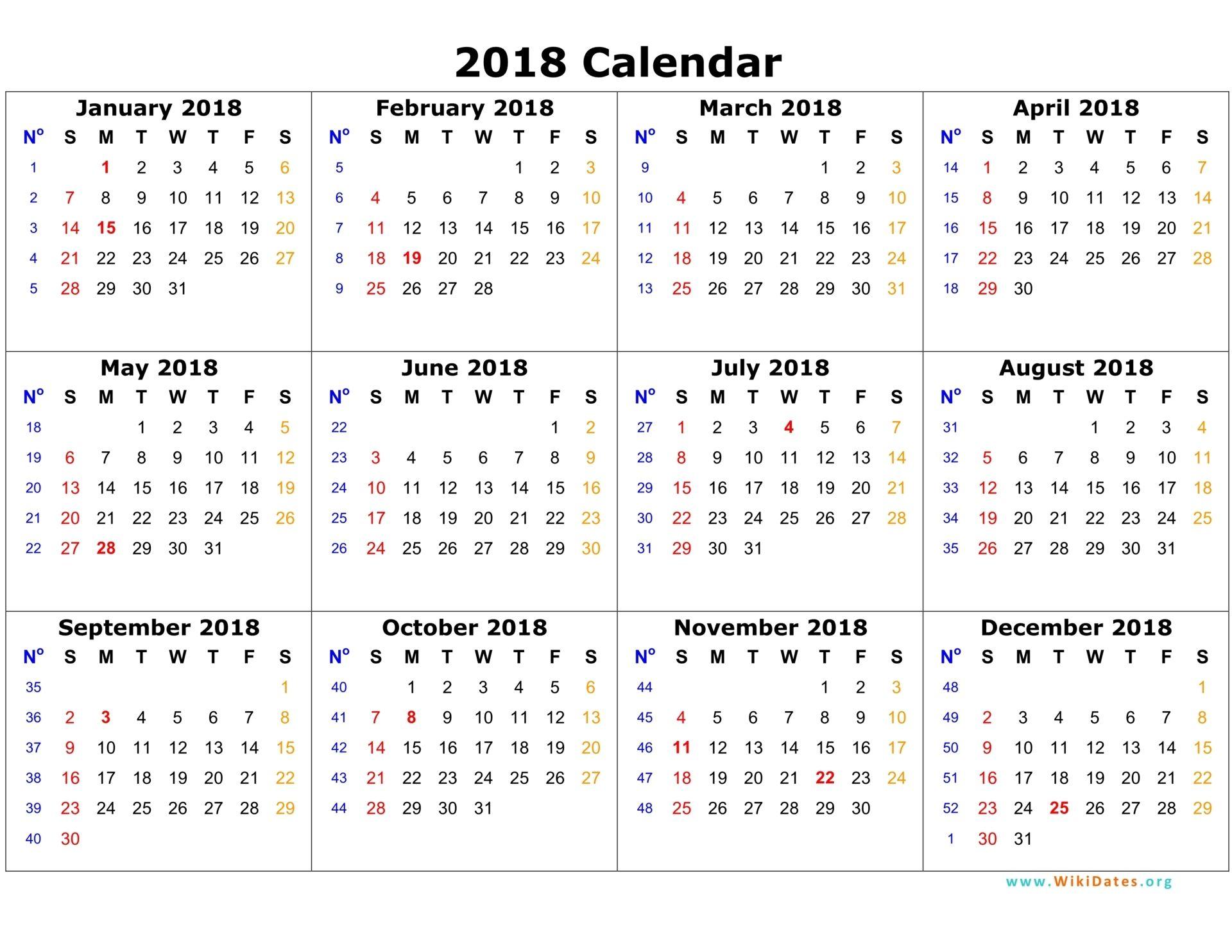 23++ Excel sheet 2018 calendar Popular