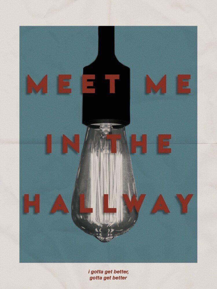 Meet Me in the Hallway: Vintage Poster by @sawhisangel on