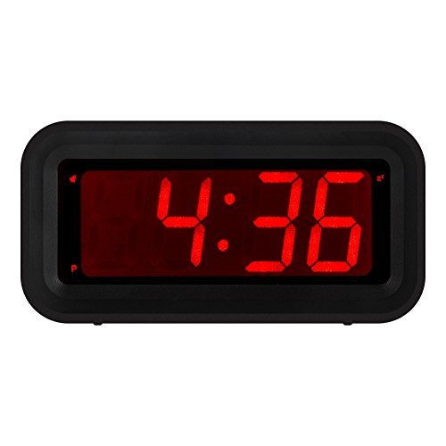 Kwanwa Led Digital Alarm Clock Battery Powered Only Small For Bedrooms Wall Travel With Constantly Big Red Dig Digital Alarm Clock Led Alarm Clock Alarm Clock