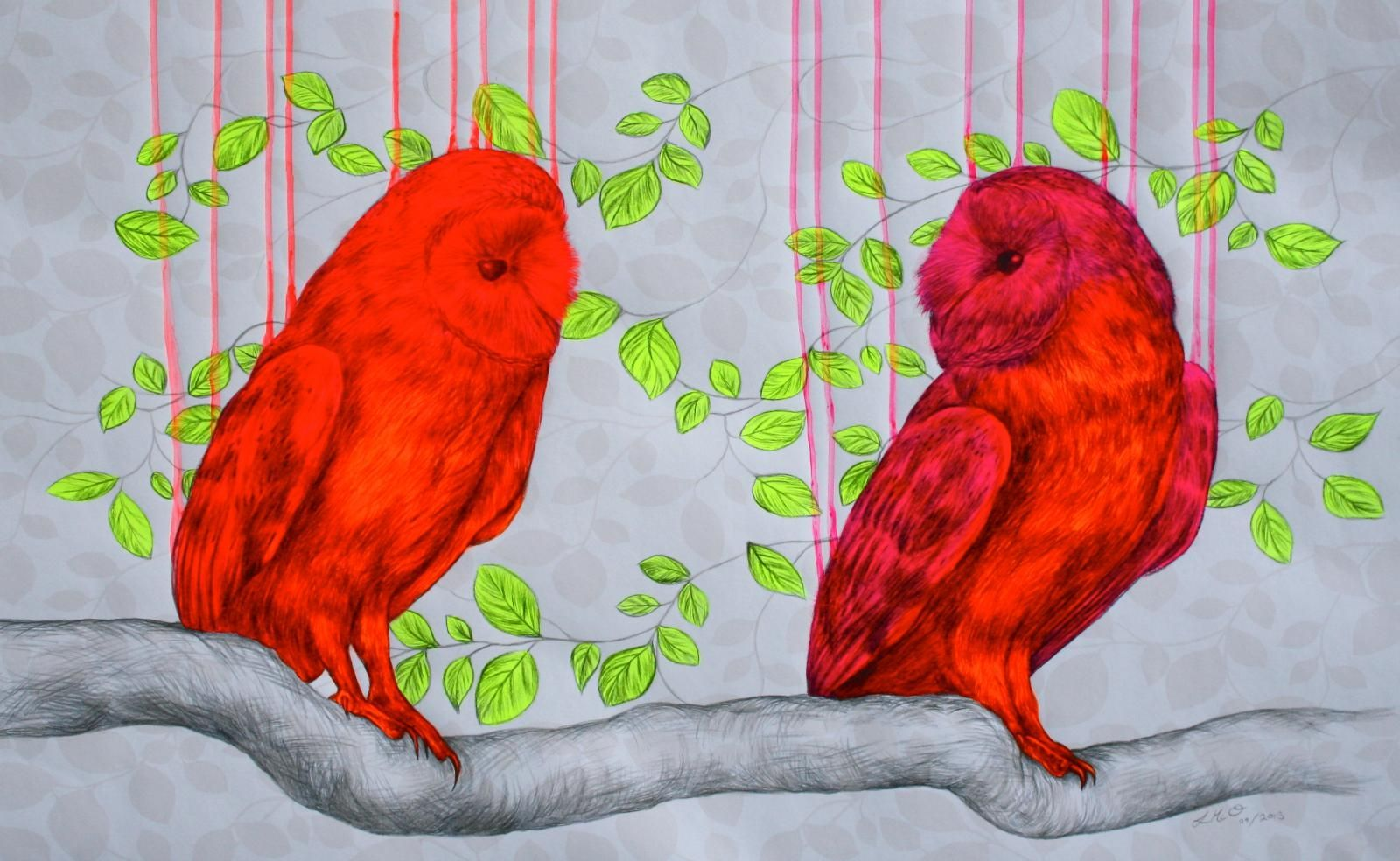Wild Attraction by Louise McNaught http://www.degreeart.com/animal-drawing/louise-mcnaught/wild-attraction