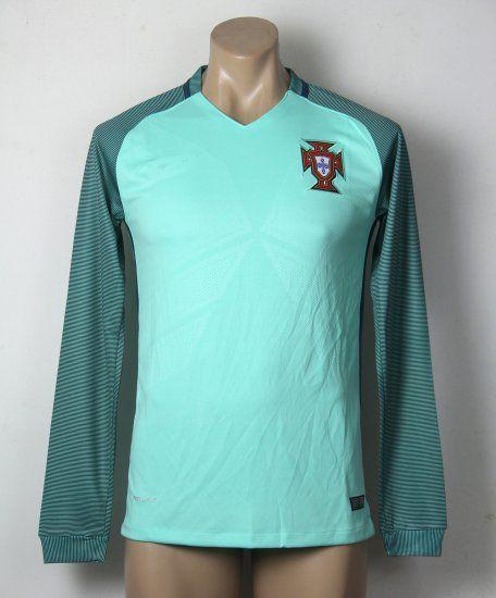 Portugal Soccer Team Euro 2016 Away Long Sleeve Replica Shirt Portugal  Soccer Team Euro 2016 Away Long Sleeve Replica Shirt 60cb6c7509e64