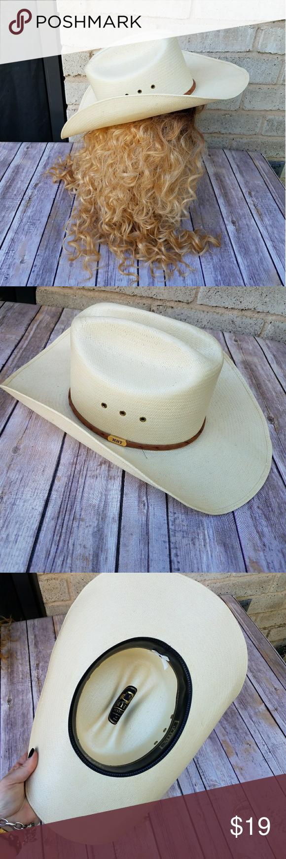 9e7f0b45b1ad3 MHT Texas Ranger Captain Straw Cowboy Hat Master hatters of Texas brand -  Texas Rangers Captain