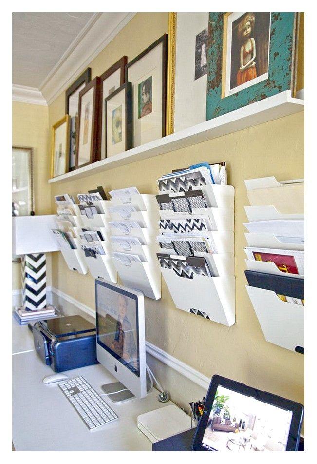 Modern White Hanging Wall File Organizer Copy Copy Copy Copy Jpg 651 951 Work Office Decor Small Office Organization Cozy Home Office