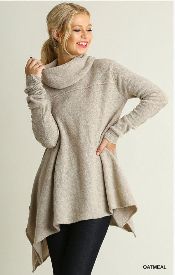 A Line Cowl Neck Sweater | Products | Pinterest | Products