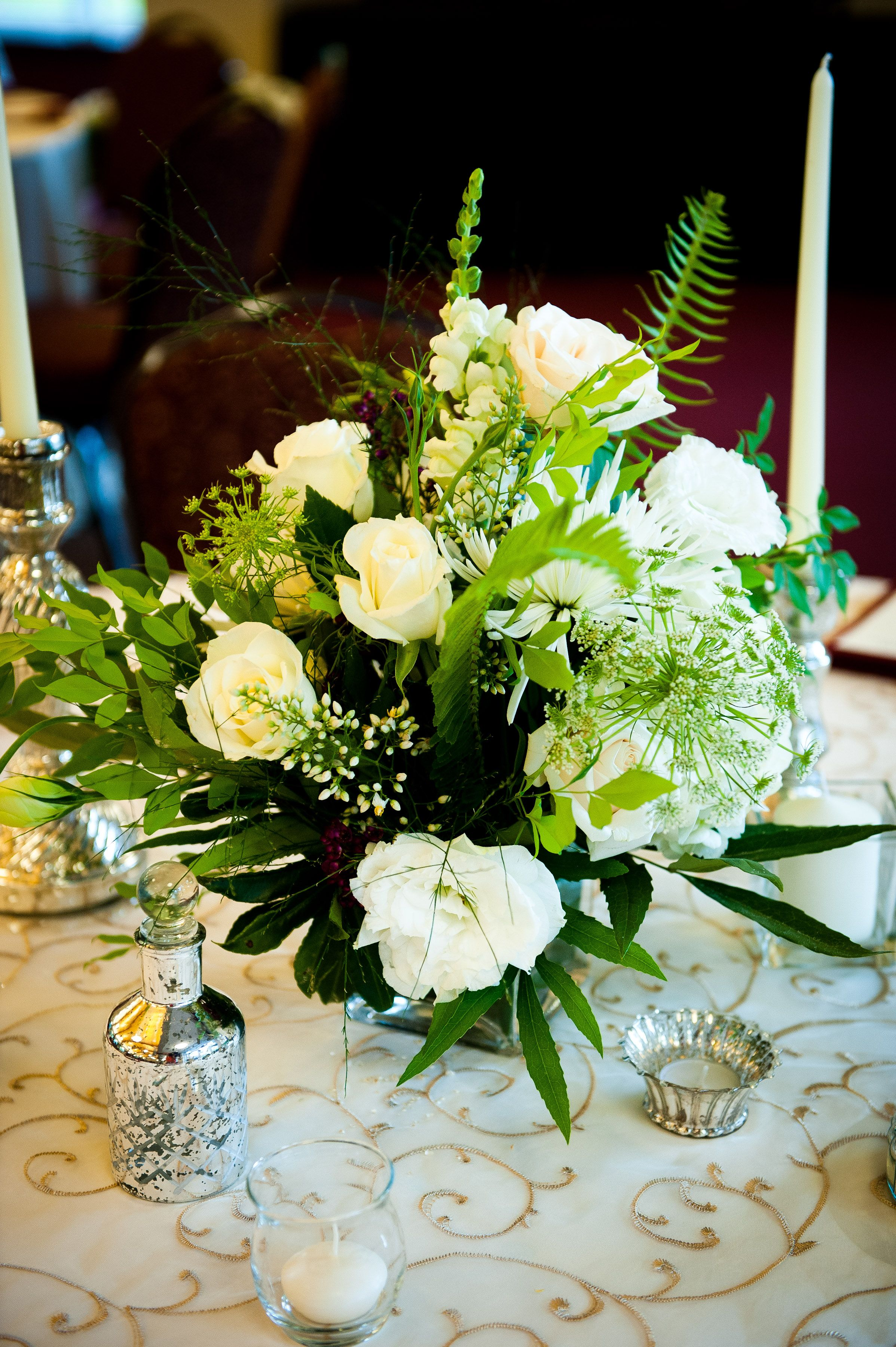 Short White Flower Centerpieces Wedding Pinterest White