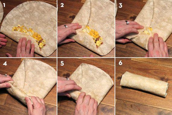 How To Fold A Burrito Receipes To Make Pinterest Chimichanga