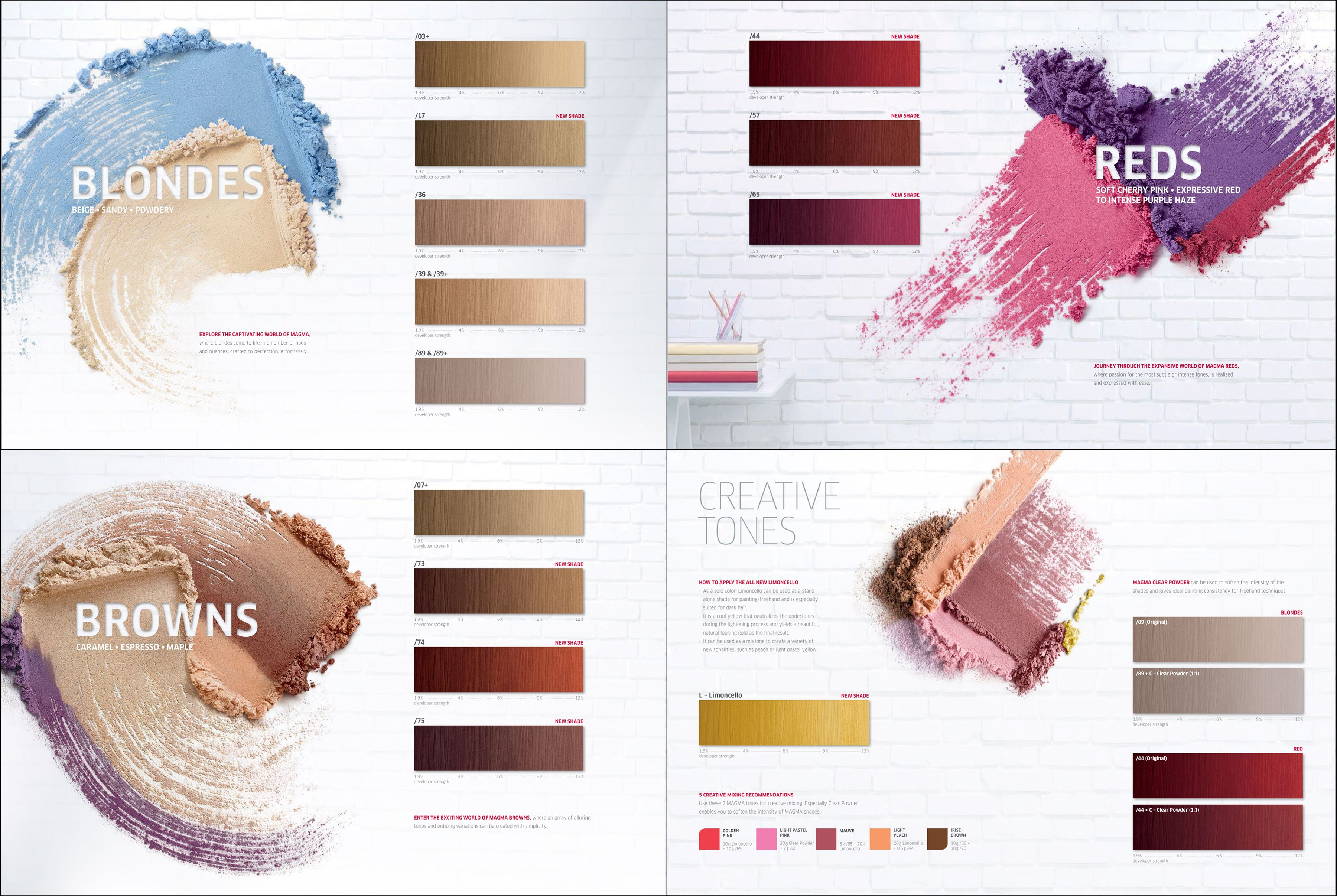Wella professionals magma by blondor all shades colour chart color charts igora also hair creative rh pinterest