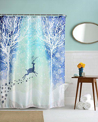 Chichic Thickening Shower Curtain 71x71 Inch 100 Mildew Resistant