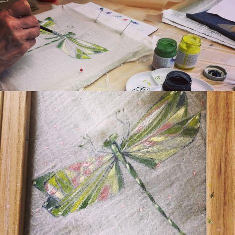 Malen Auf Stoff Mit Okologischen Farben Kreativtag Bei