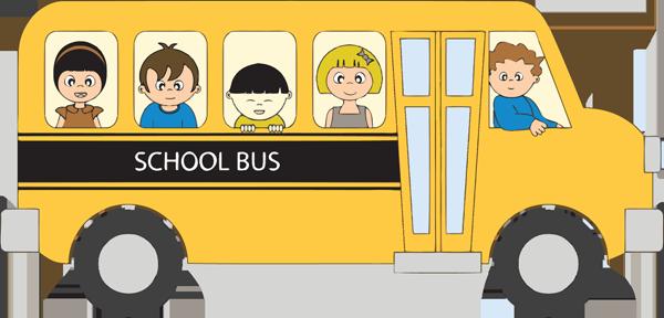 school bus clip art for kids classroom bulletin boards pinterest rh pinterest com clip art school bus back to school clipart school bus black and white