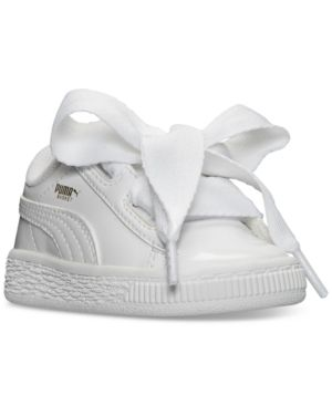 Puma Basket Heart Patent Infant Toddler Girls Sneakers Shoes