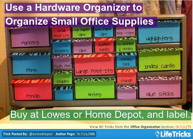 organizing a small office. Office Organization - Use A Hardware Organizer To Organize Small Supplies Organizing R