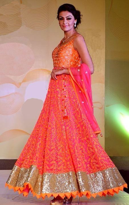 Fusion Gowns/anarkalis with fine hand wok @ VARIJA Design Studio