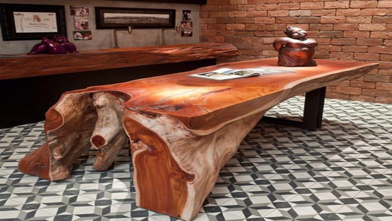 Unusual Wooden Tables Design Interesting Furniture Ideas Mobel Holz Altholz Stuhl Holz [ 720 x 1280 Pixel ]