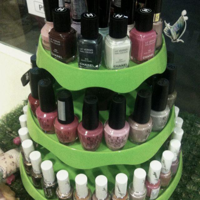 X'mas tree nail polishs