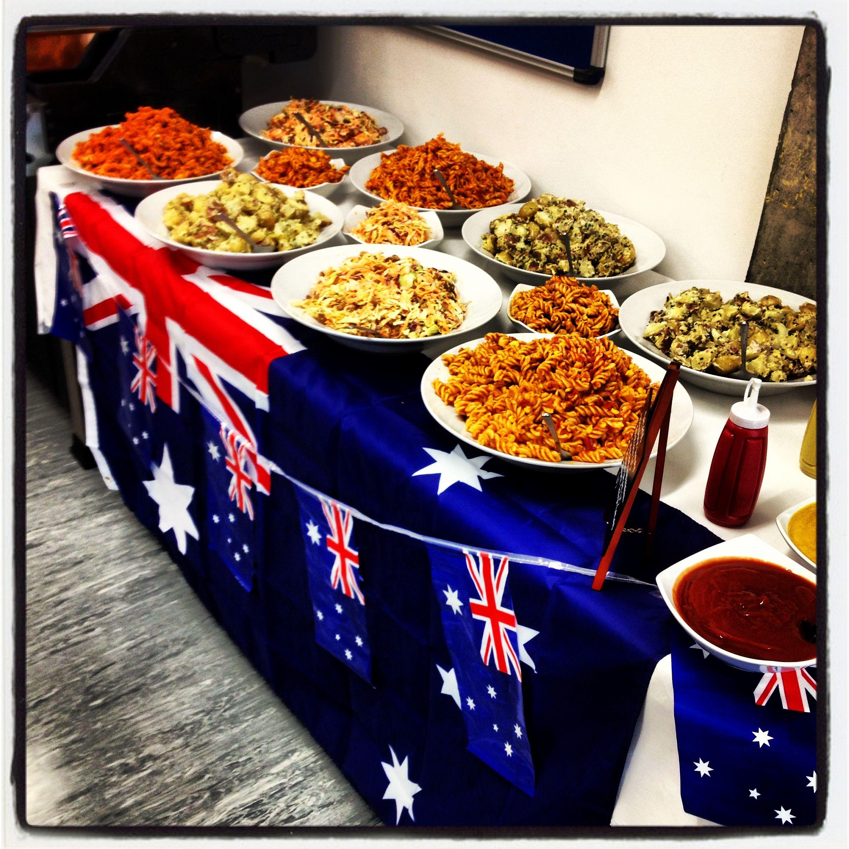 Australian themes! New years eve dinner, New years eve
