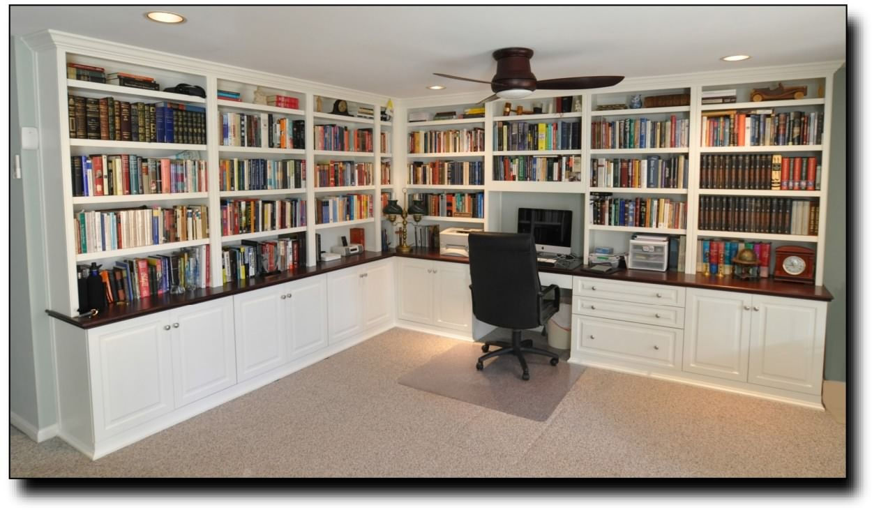 Full Office   Note: Add Glass Doors To Some Of The Book Shelves For Display