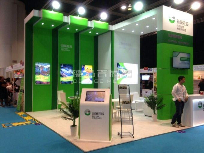 Real Estate Exhibition Stall : Xcre hongkong english booth design jiangsu xincheng real