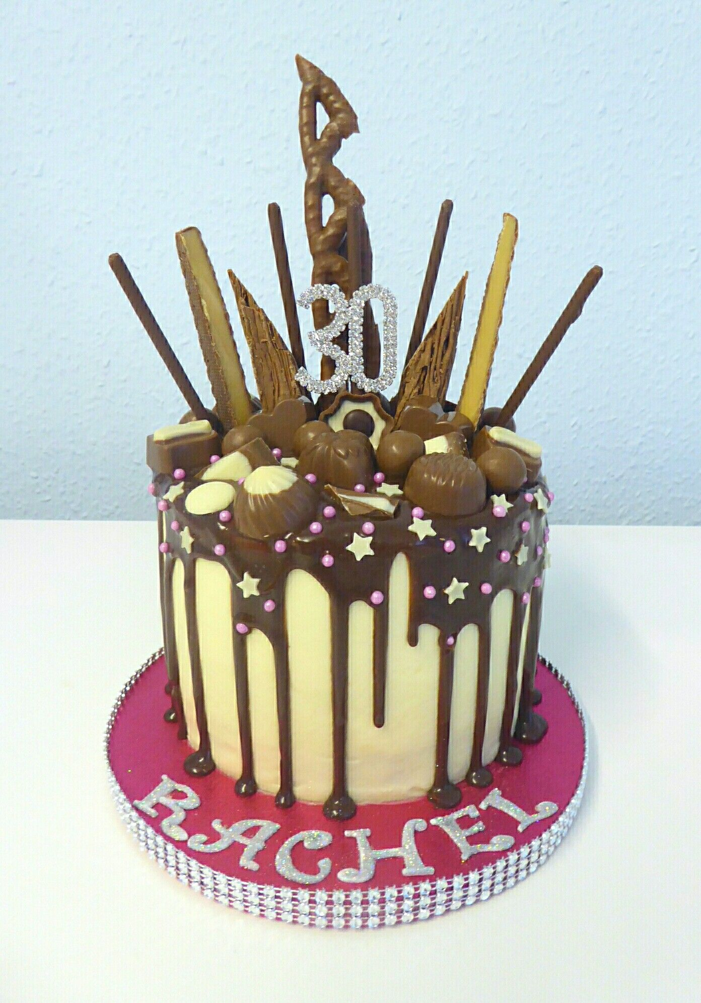 Cool A Lovely 30Th Birthday Cake For A Girl Who Loves Her Chocolate Funny Birthday Cards Online Inifodamsfinfo