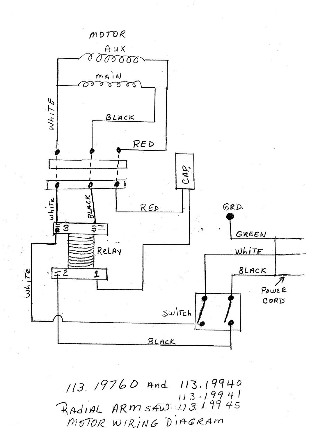 Wiring Diagram For Delta Radial Arm Saw | Wiring Diagram on