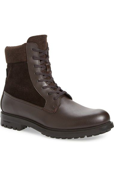 50836bc8773 CALVIN KLEIN  Gable  Plain-Toe Combat Boot (Men).  calvinklein  shoes  boots
