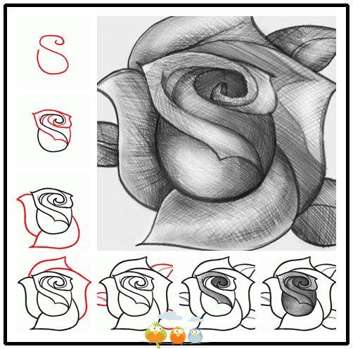 como desenhar uma rosa desenhos em 2018 pinterest