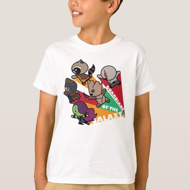 Kawaii Guardians of the Galaxy Group Jump T-Shirt #cartoon #guardians #of #the #galaxy #TShirt