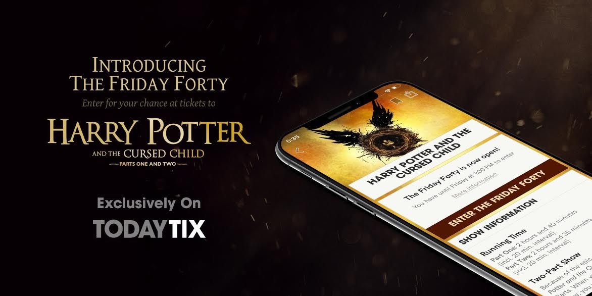 Todaytix Mobile App Brings You Cheaper Theatre Tickets Including 40 Tickets For Harry Potter And The Cursed Child Cursed Child Mobile App App